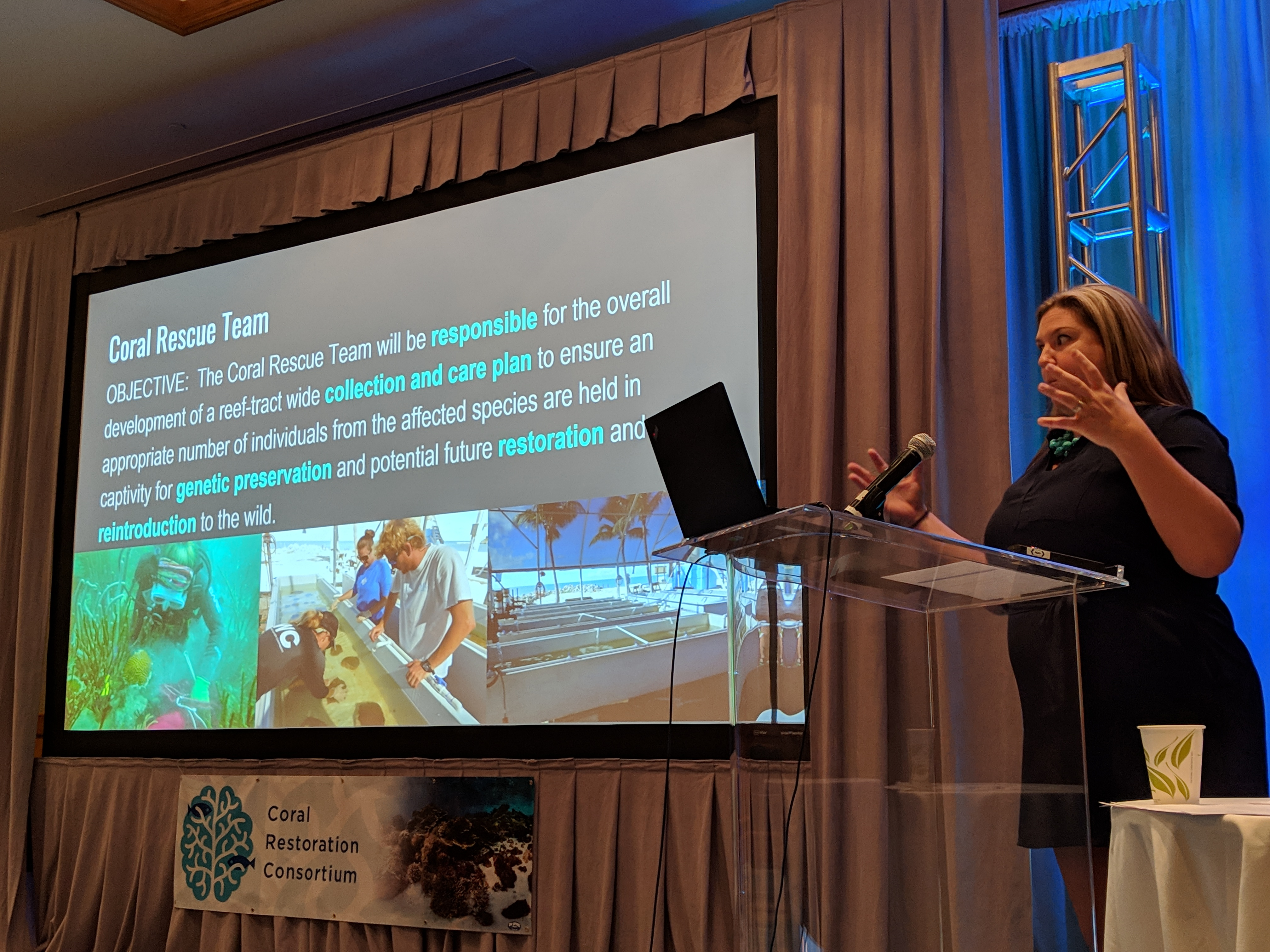 Jennifer Moore NOAA Protected Coral Recovery Coordinator © Coral Restoration Consortium_Reef Futures 2018